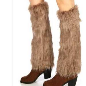 New Fur boot covers boot cuff leg warmers Ski snow
